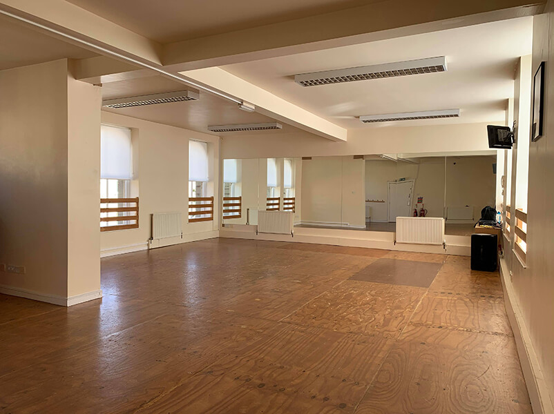 Studio 1 at the Sarah Taylor Dance Studios.