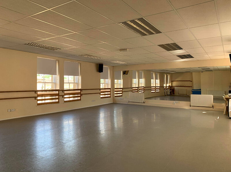 Studio 2 at the Sarah Taylor Dance Studios.